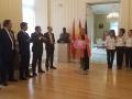 Cristina Cifuentes recibió a las navegantes, a Vencer el Cáncer y a los patrocinadores del Reto Pelayo Vida