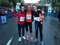Carlos, Monica y Guillen preparandose para correr la San Silvestre Vallecana 2013 para Vencer el Cáncer