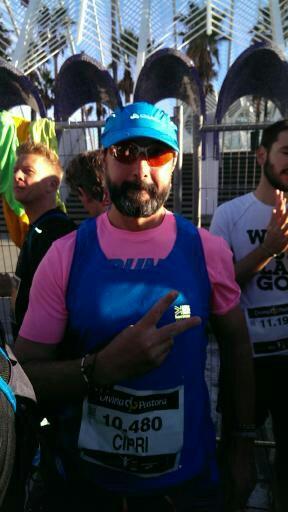 Cipri en la maratón de Valencia