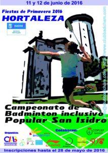 Campeonato de Badminton inclusivo Popular San Isidro - Madrid @ Centro Deportivo Municipal de Hortaleza   Madrid   Comunidad de Madrid   España