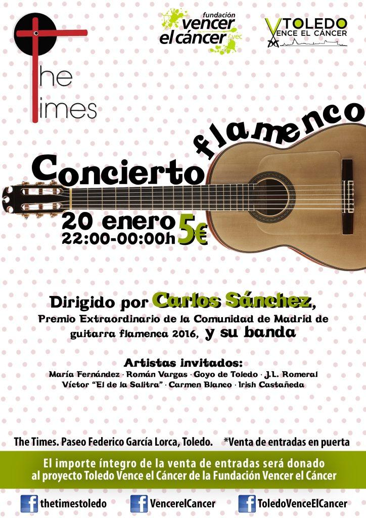 Concierto flamenco en Toledo para Vencer el Cáncer