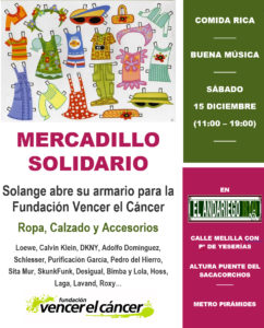 Mercadillo Solidario - Solange abre su armario para VEC @ El Andariego Río | Madrid | Comunidad de Madrid | España